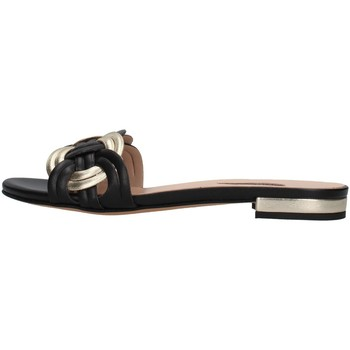 Schuhe Damen Pantoffel Albano 8115 SCHWARZ