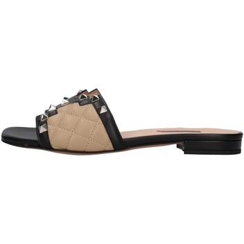 Schuhe Damen Pantoffel Albano 8005 BEIGE