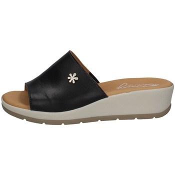 Schuhe Damen Pantoffel Florance 39324-1 Schwarz