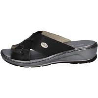 Schuhe Damen Pantoffel Florance 22512 Schwarz