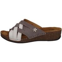 Schuhe Damen Pantoffel Florance 22134-2 Grau