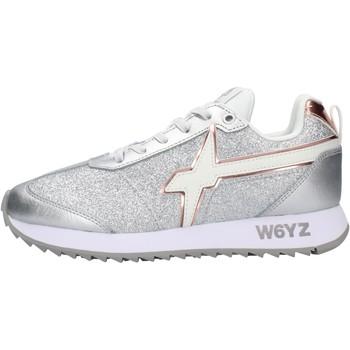 Schuhe Jungen Sneaker Low Falcotto - Sneaker argento  glitter KIS J-1Q10 ARGENTO