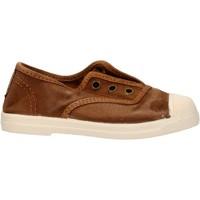 Schuhe Jungen Sneaker Low Natural World - Scarpa elast marrone 470E-686 MARRONE