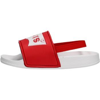 Schuhe Jungen Pantoletten Levi's - Pool mini bco/rosso VPOL0062S-0206 ROSSO-BIANCO
