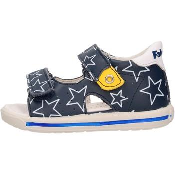 Schuhe Jungen Sandalen / Sandaletten Falcotto - Sandalo blu ARIEL-1C49 BLU