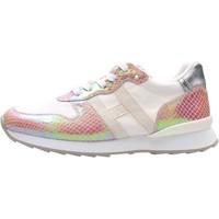 Schuhe Jungen Sneaker Low Hogan - J484 bco/rosa HXC4840CY50PEI852Z BIANCO