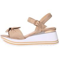 Schuhe Damen Sandalen / Sandaletten Valleverde - Sandalo beige 45340 BEIGE