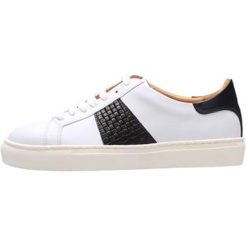 Schuhe Herren Sneaker Low Soldini - Sneaker bianco/blu 22309-3-VF2 BIANCO