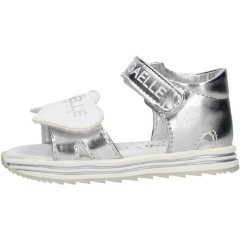 Schuhe Jungen Sandalen / Sandaletten GaËlle Paris - Sandalo argento G-880 ARGENTO