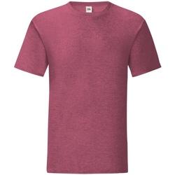 Kleidung Herren T-Shirts Fruit Of The Loom 61430 Burgunderrot meliert