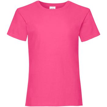 Kleidung Mädchen T-Shirts Fruit Of The Loom 61005 Fuchsie