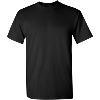 Kleidung Herren T-Shirts Gildan 5000 Schwarz