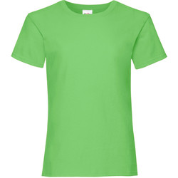Kleidung Mädchen T-Shirts Fruit Of The Loom 61005 Limette