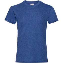 Kleidung Mädchen T-Shirts Fruit Of The Loom 61005 Retro Royal meliert