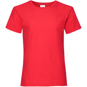 Kleidung Mädchen T-Shirts Fruit Of The Loom 61005 Rot