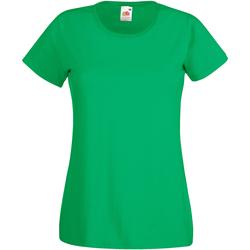 Kleidung Damen T-Shirts Fruit Of The Loom 61372 Irisches Grün
