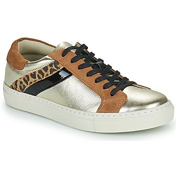 Schuhe Damen Sneaker Low Betty London PITINETTE Gold