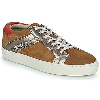 Schuhe Damen Sneaker Low Betty London PITINETTE Cognac
