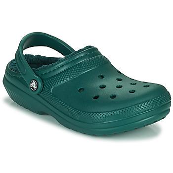 Schuhe Pantoletten / Clogs Crocs CLASSIC LINED CLOG Grün