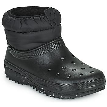 Schuhe Damen Schneestiefel Crocs CLASSIC NEO PUFF SHORTY BOOT W Schwarz