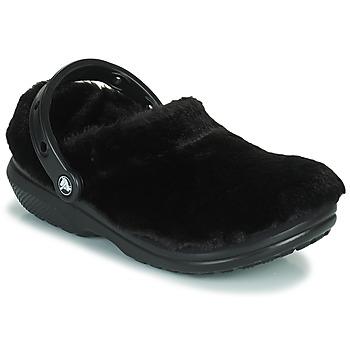 Schuhe Damen Pantoletten / Clogs Crocs CLASSIC FUR SURE Schwarz