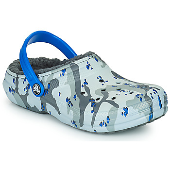 Schuhe Jungen Pantoletten / Clogs Crocs CLASSIC LINED CAMO CG K Grau / Blau