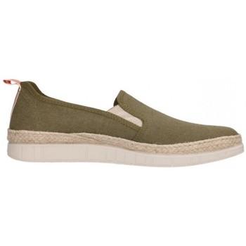 Schuhe Herren Leinen-Pantoletten mit gefloch Potomac 155 Hombre Kaki vert