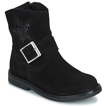 Schuhe Mädchen Boots Citrouille et Compagnie POUDRE Schwarz