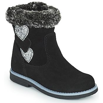 Schuhe Mädchen Klassische Stiefel Citrouille et Compagnie PARAVA Schwarz