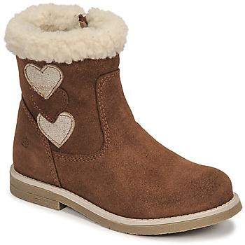 Schuhe Mädchen Klassische Stiefel Citrouille et Compagnie PARAVA Camel