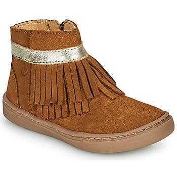 Schuhe Mädchen Boots Citrouille et Compagnie PIDOUTE Camel