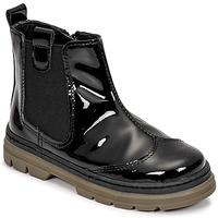 Schuhe Mädchen Boots Citrouille et Compagnie PATATA Schwarz