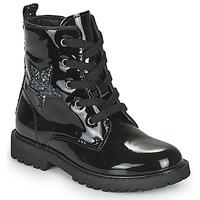 Schuhe Mädchen Boots Citrouille et Compagnie PICOTI Schwarz