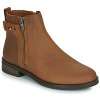 Schuhe Damen Boots Clarks MEMI LO Camel
