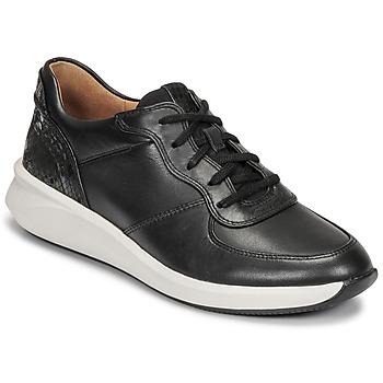 Schuhe Damen Sneaker Low Clarks UN RIO SPRINT Schwarz