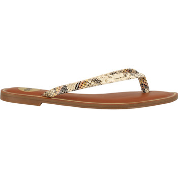 Schuhe Damen Zehensandalen Buffalo Sandalen Beige