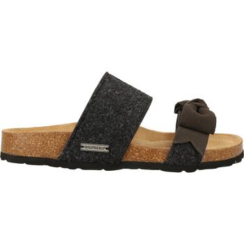 Schuhe Damen Sandalen / Sandaletten Shepherd Hausschuhe Schwarz/Grau