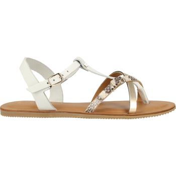 Schuhe Damen Zehensandalen Scapa Zehensteg Weiß