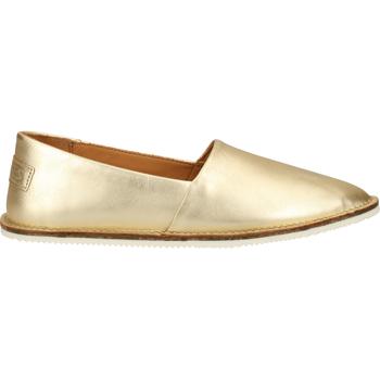 Schuhe Damen Leinen-Pantoletten mit gefloch Shabbies Amsterdam Slipper Gold