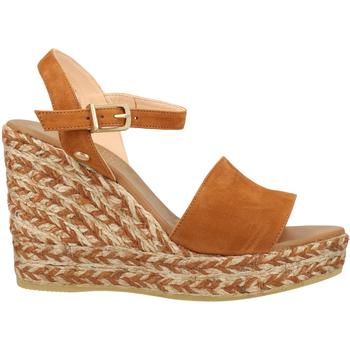 Schuhe Damen Sandalen / Sandaletten Fred de la Bretoniere Sandalen Cognac