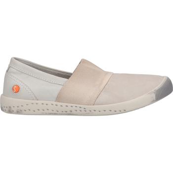 Schuhe Damen Slipper Softinos Slipper Hellgrau
