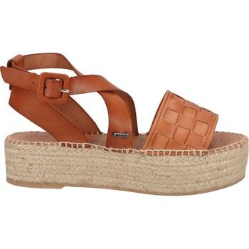 Schuhe Damen Sandalen / Sandaletten Shabbies Amsterdam Sandalen Cognac