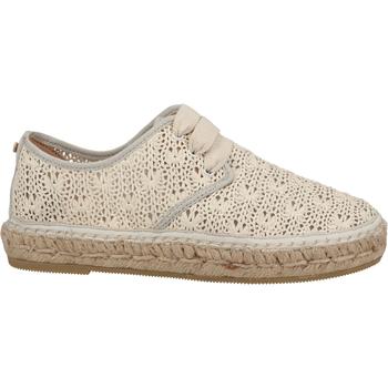 Schuhe Damen Slip on Fred de la Bretoniere Halbschuhe Weiß