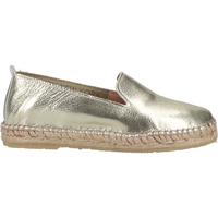 Schuhe Damen Leinen-Pantoletten mit gefloch Steven New York Slipper Gold