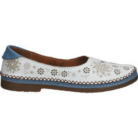 Schuhe Damen Slipper Cosmos Comfort Slipper Weiß/Blau
