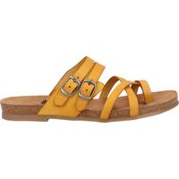 Schuhe Damen Zehensandalen Cosmos Comfort Zehensteg Gelb