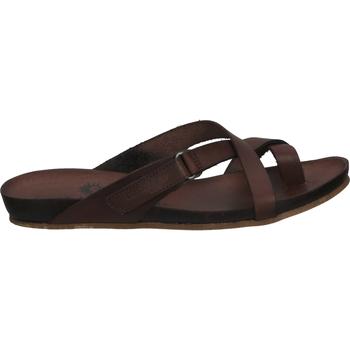 Schuhe Damen Zehensandalen Cosmos Comfort Zehensteg Dunkelbraun