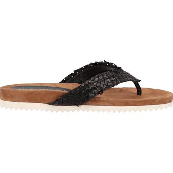 Schuhe Damen Zehensandalen Lazamani Zehensteg Schwarz