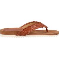 Schuhe Damen Zehensandalen Lazamani Zehensteg Tan