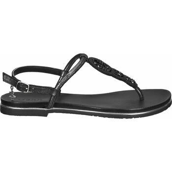 Schuhe Damen Zehensandalen Mexx Zehensteg Schwarz
